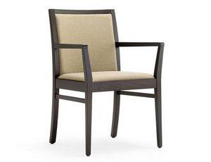 Guenda-P1, Chaise avec accoudoirs pour hôtel