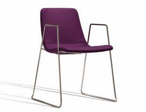 Ics 506VBZ, Chaise empilable en métal avec accoudoirs