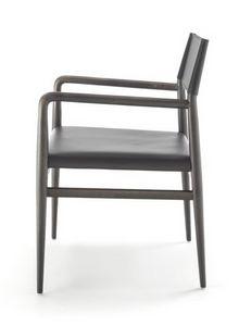 Ledermann fauteuil10.0605, Chaise en frêne avec accoudoirs