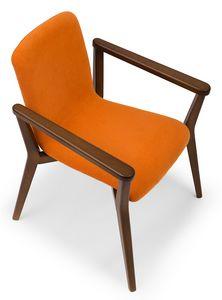 Link ARMS, Chaise avec accoudoirs intégrés dans la structure en bois