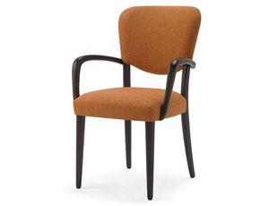 Mia-P, Chaise avec accoudoirs, pour salle à manger