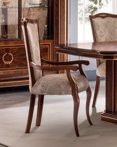 Modigliani chaise avec accoudoirs, Chiar avec accoudoirs pour la salle à manger