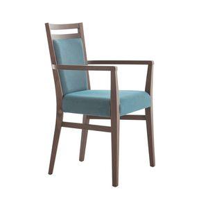MP472FP, Chaise en bois moderne avec accoudoirs