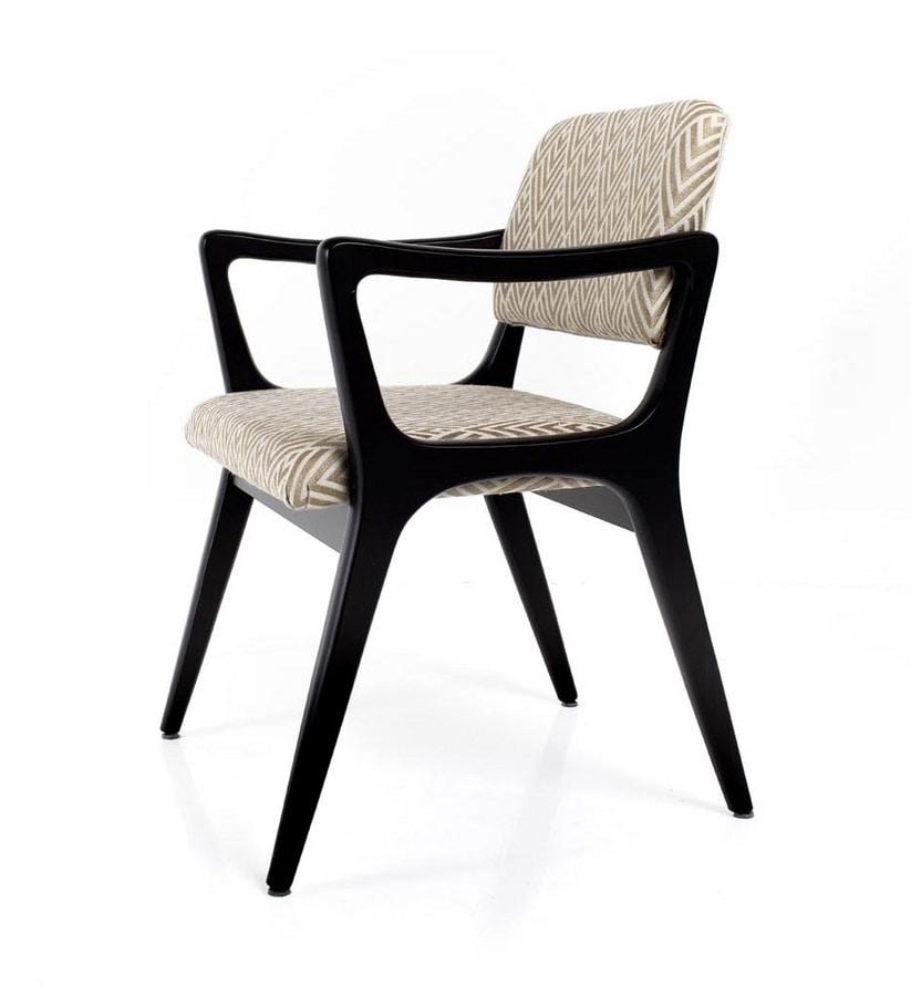 Nelly, Chaise avec accoudoirs, inspirée de l'art déco