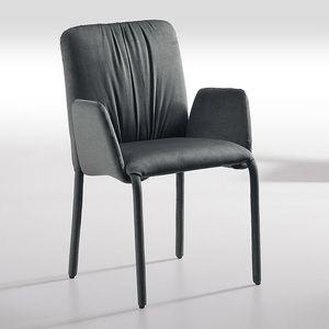 Sunrise-P, Chaise avec accoudoirs, recouverte de tissu