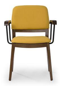 Tosca ARMS, Chaise avec dossier arrondi