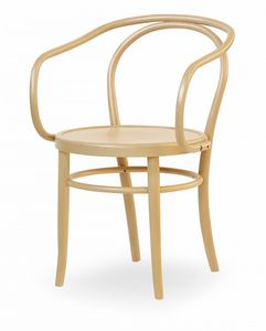 V12, Chaise en bois avec accoudoirs