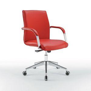 Araiss bas, Chaise de bureau avec le bas du dos, base en métal