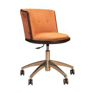 Carambola 5198/F, Chaise sur roulettes, aux formes arrondies