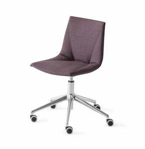 Colorfive WRAP 5R, Chaise rembourrée sur roulettes