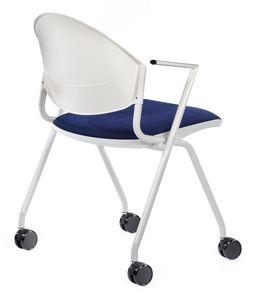 NESTING DELFI 089 R, Chaise rembourrée avec roues pour les salles de conférence et des bureaux