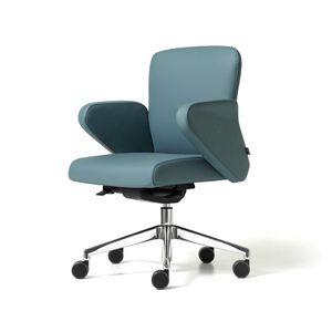 Halfpipe visiteur gaz, Chaise de bureau avec base en métal sur roues, la zone de travail
