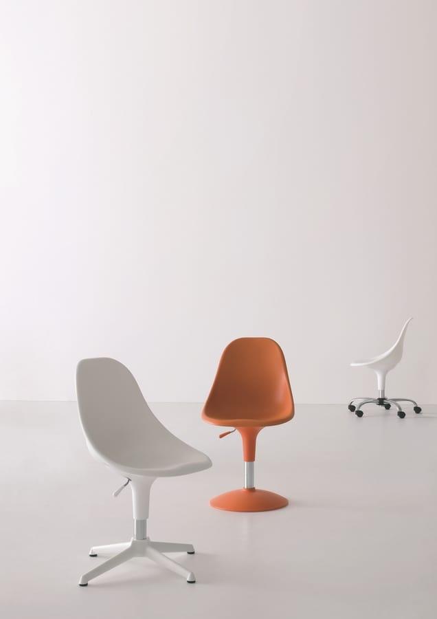 Harmony BC, Chaise avec des roues, de différentes couleurs, pour le bureau