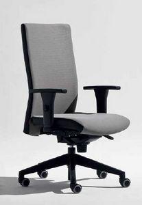 Lora-PB, Chaise de bureau avec accoudoirs en forme de T