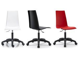 Mannequin with wheels, Pivotant et chaise réglable pour le bureau, coque en polypropylène