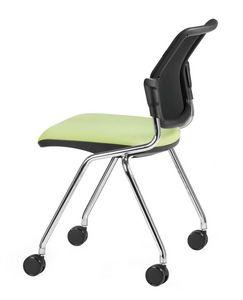 NESTING DELFINET 073 R, Chaise de bureau opérationnel avec 4 pieds avec roues