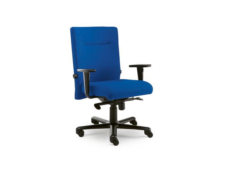 Non Stop task 24hc 51100, Chaise carré recouvert de tissu, pour le bureau