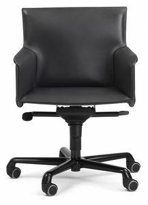 Pasqualina fauteuil pivotant 10.0092, Chaise de bureau sur roulettes, avec réglages