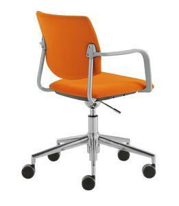 Q44, Chaise de bureau pivotante à roulettes