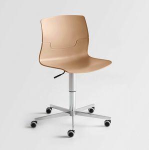 Slot 5R, Chaise pivotante avec roues, pour le bureau moderne