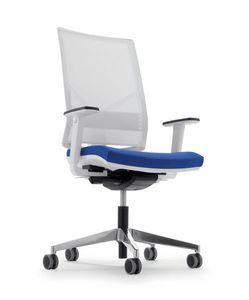 UF 433 / B, Chaise de bureau avec filet, avec des lignes carrées