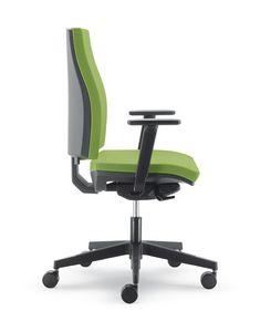 UF 441 / B, Silencieuse chaise de bureau avec roues, nylon enduit