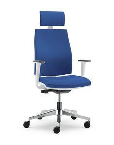 UF 442 / A, Chaise douce avec coque en nylon, pour le bureau moderne