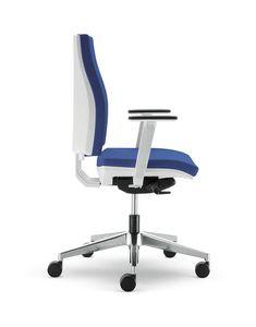 UF 443 / B, Chaise de bureau avec roues en nylon et de l'aluminium