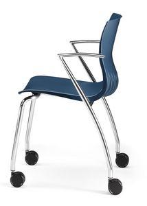 WEBBY 334 R, Chaise avec base en métal, ignifuge enveloppe de nylon
