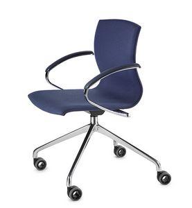 WEBWOOD 368ZR, Chaise sur roulettes, base chromée