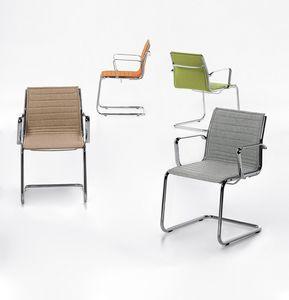 Aalborg Line 03, Chaise luge, coutures horizontales, pour le bureau