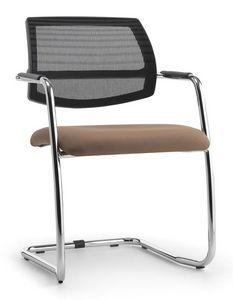 Air One Soft 03, Chaise visiteur avec dossier maille, pour le bureau