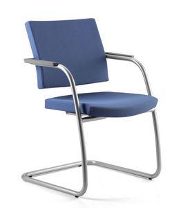 AVIAMID 3418, Chaise visiteur pour bureau, rembourrés, housses d'accoudoirs