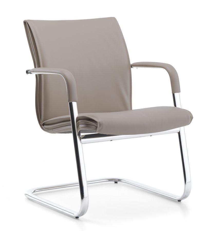 Berlin 03, Chaise visiteur avec accoudoirs intégrés, pour le bureau