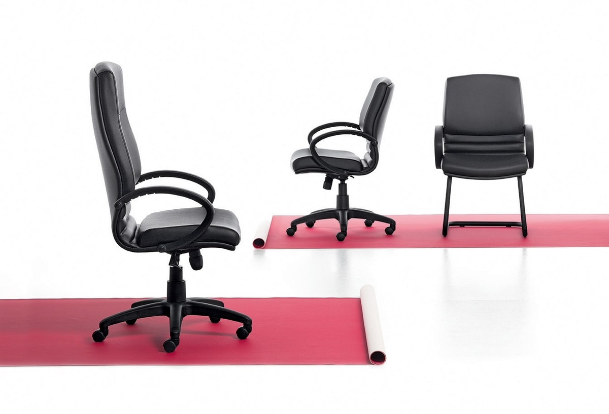 Digital 03, Chaise luge, base en acier tubulaire, pour le bureau