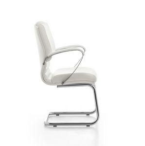 Digital Chrome 03, Chaise visiteur, base en acier tubulaire, pour le bureau
