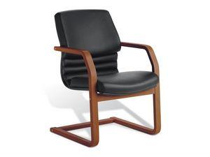 Digital Wood 03, Chaise visiteur rembourré, cadre en contreplaqué, pour le bureau