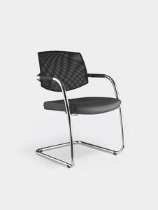 EURA visitor, Chaise de bureau avec piètement luge