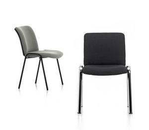 Isotta 01, Chaise rembourrée pour les invités de bureau