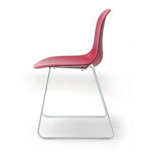 Mani SL, Chaise visiteur avec coque en polypropylène coloré