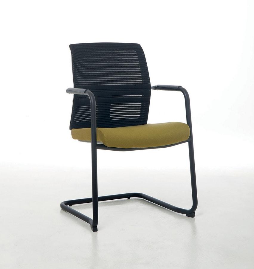 Omnia Plus 05, Chaise de bureau avec dossier en résille