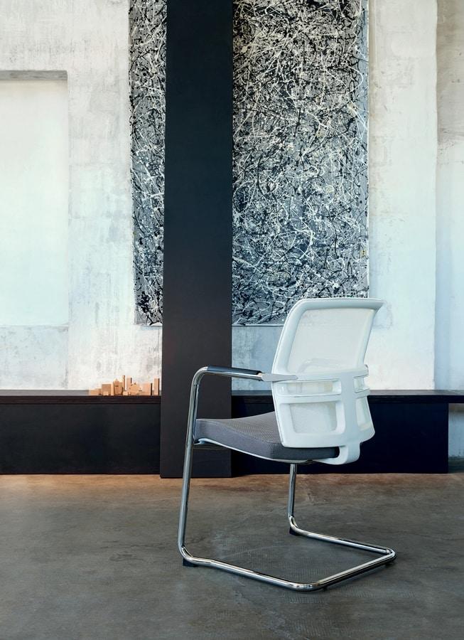 Omnia White 05, Chaise pour les clients de bureau