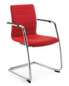 Q2 IM, Chaise rembourrée avec base en porte-à-faux