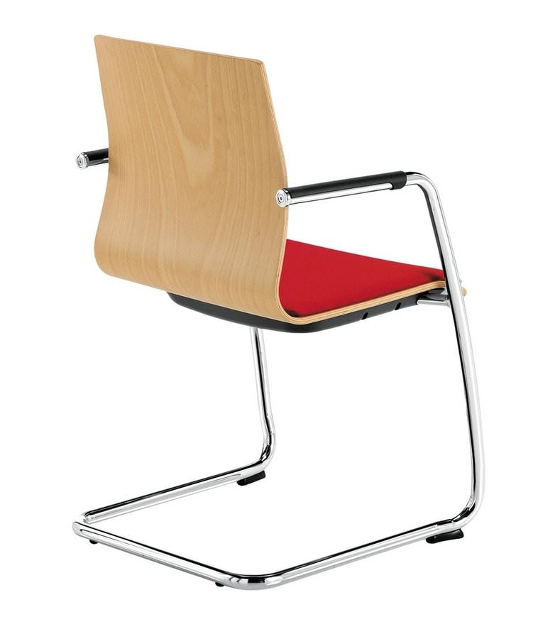 Q2 WIM, Chaise avec piètement luge, pour les visiteurs de bureau