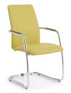 Samba HB 01, Chaise visiteur rembourré, base en métal, pour le bureau