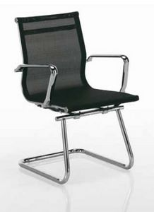 Tralis-V, Chaise de bureau pour les clients, avec dossier maillé