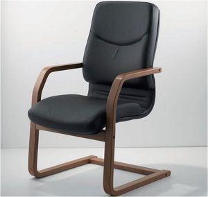 UF 531 / S - WOOD, Chaise luge avec cadre en bois et idéal de siège rembourré pour les bureaux exécutifs