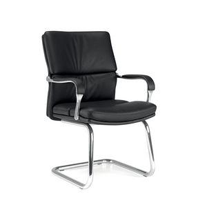 UF 578 / S, Chaise visiteur pour bureau avec accoudoirs rembourrés