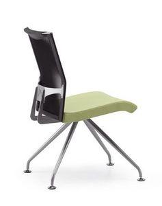 AVIANET 3645, Chaise de bureau avec le dos maille et assise rembourrée