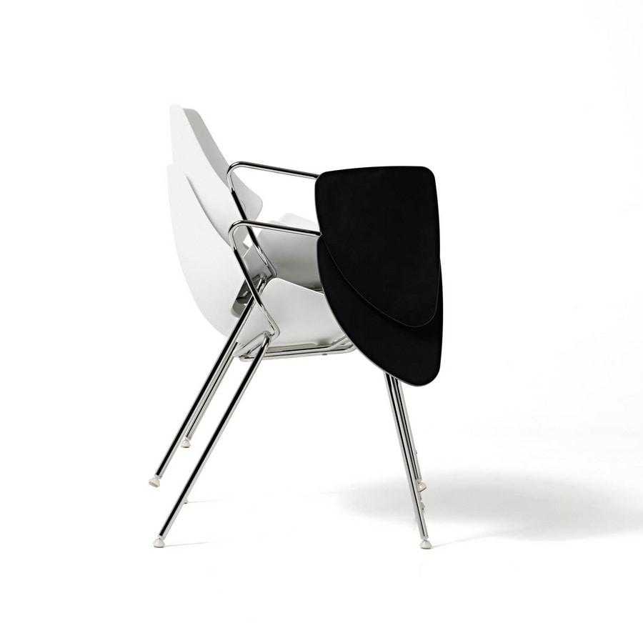Eon 4 legs, Chaise avec coque en matière plastique, pour les cuisines